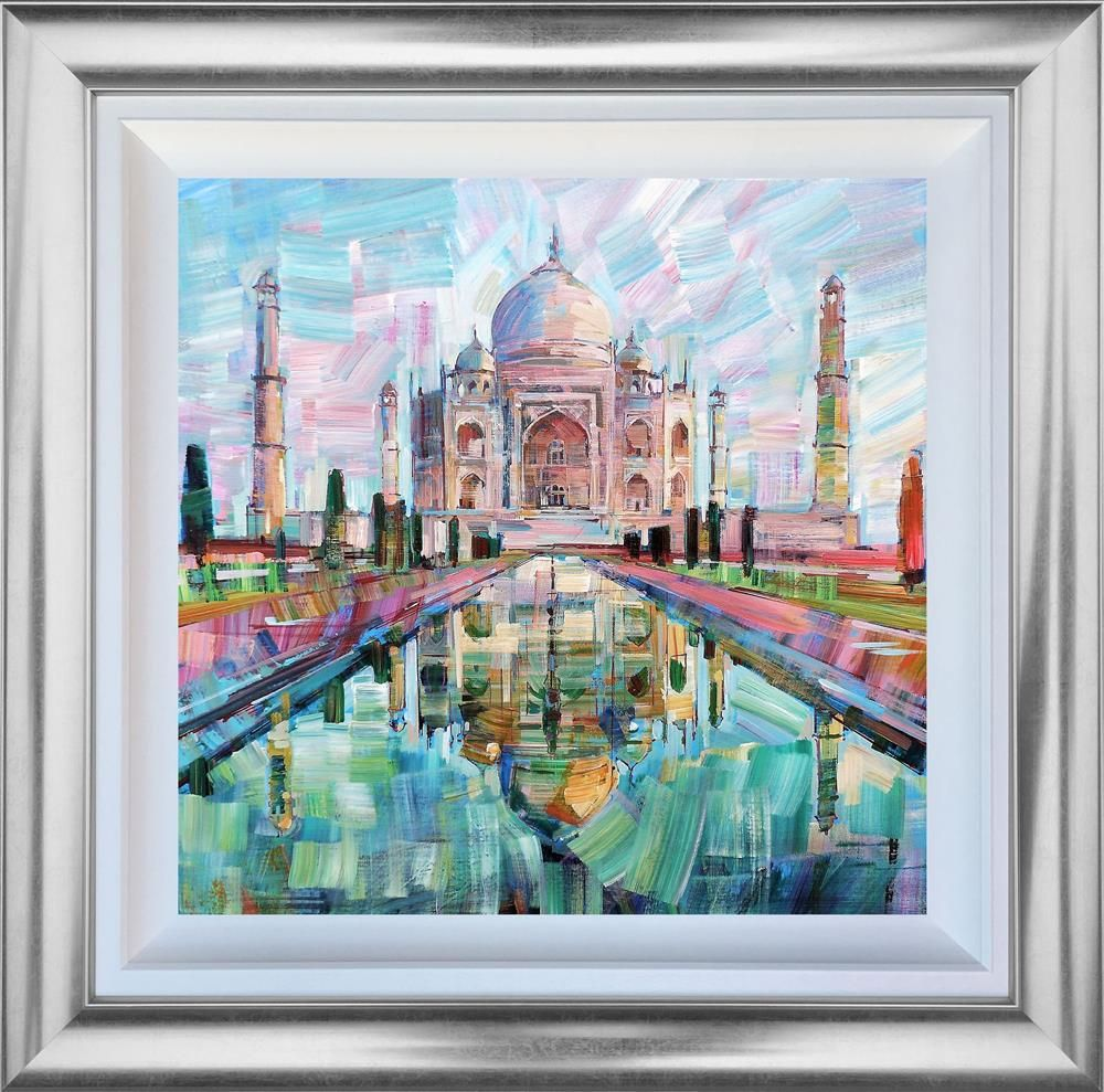 Colin Brown - 'Evening Glow Taj Mahal' - Framed Original Art