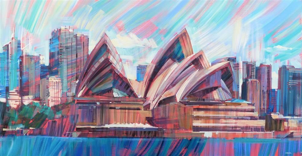Colin Brown - 'Sydney Opera House' - Framed Original Art
