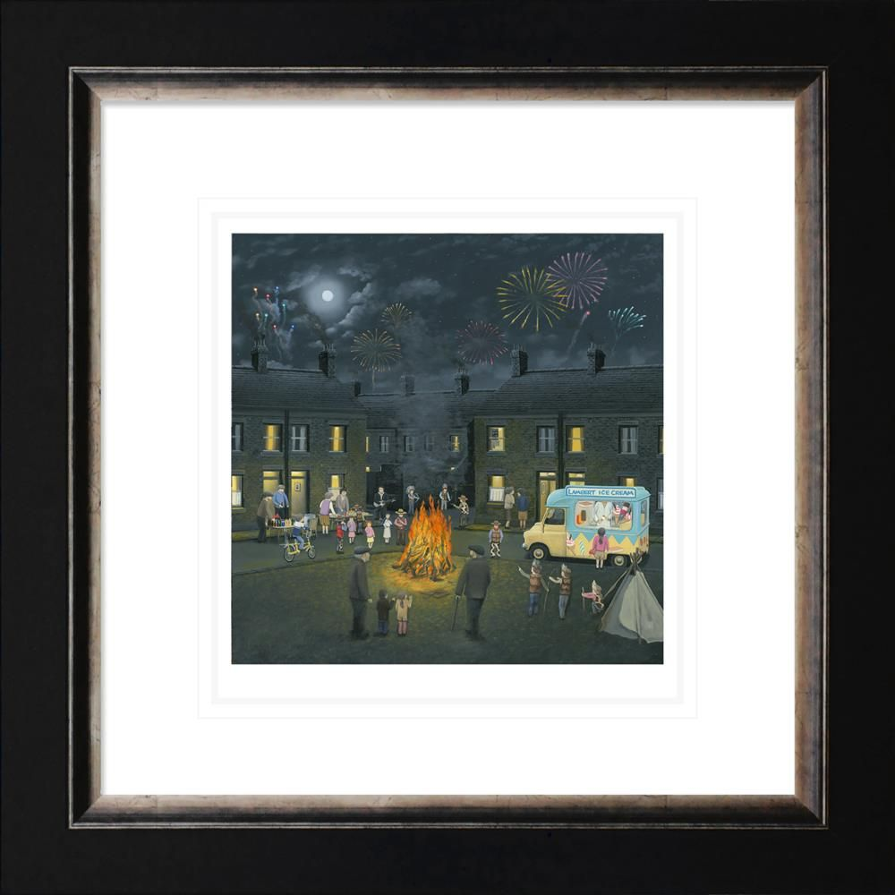 Leigh Lambert - ' Bonfire Lights ' - Canvas - Limited Edition Art