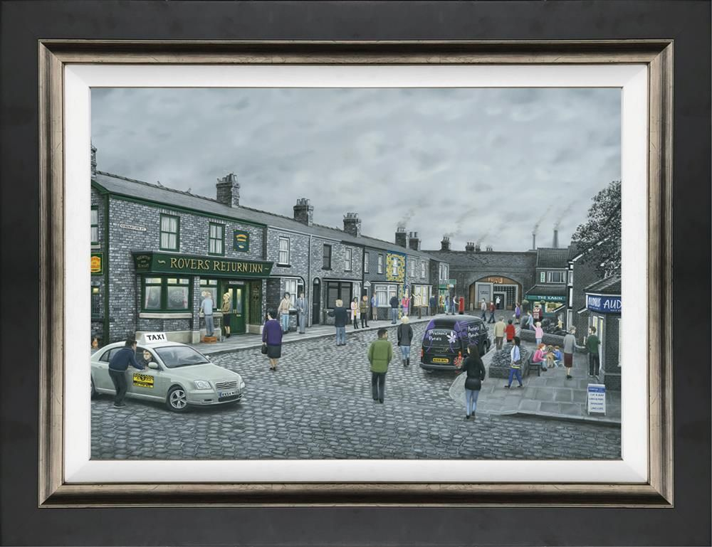 Leigh Lambert - 'On The Cobbles' - Canvas - Limited Edition Art