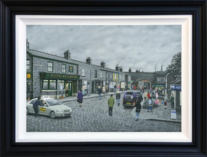 Leigh Lambert - 'On The Cobbles' - Canvas - De Luxe Limited Edition Art
