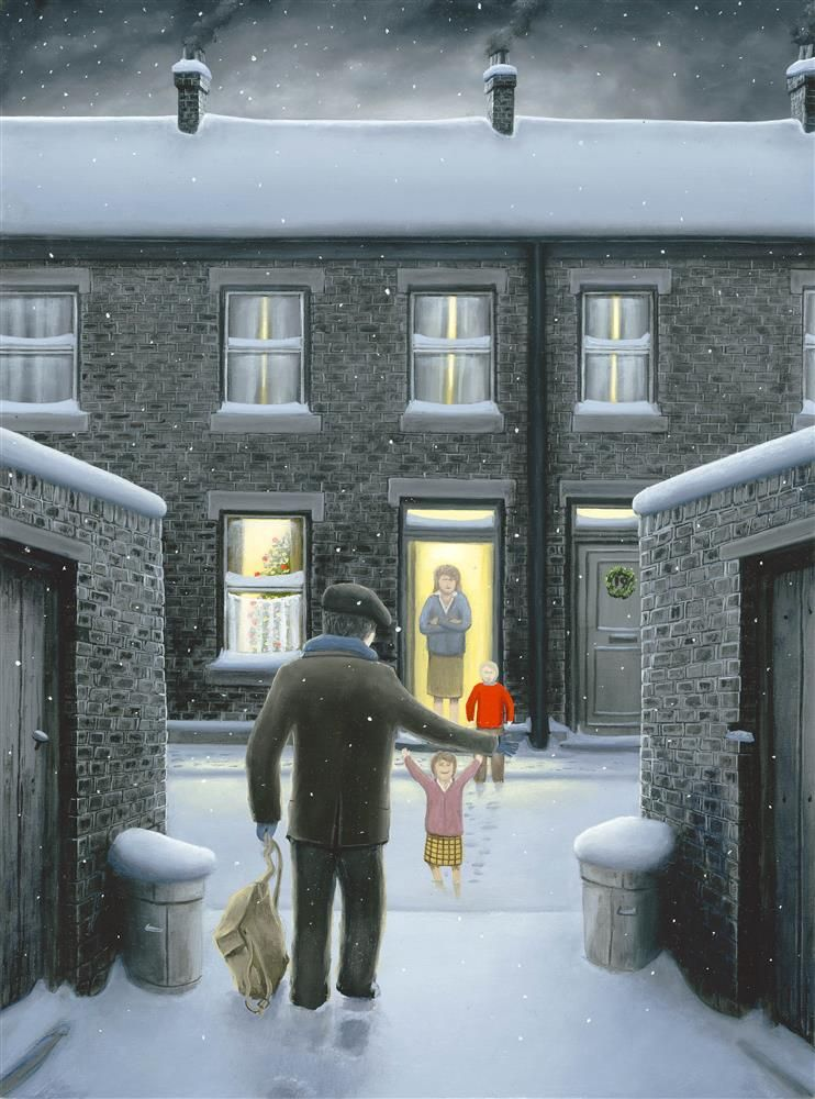 Leigh Lambert - 'Home For Christmas' - Canvas - Limited Edition Art