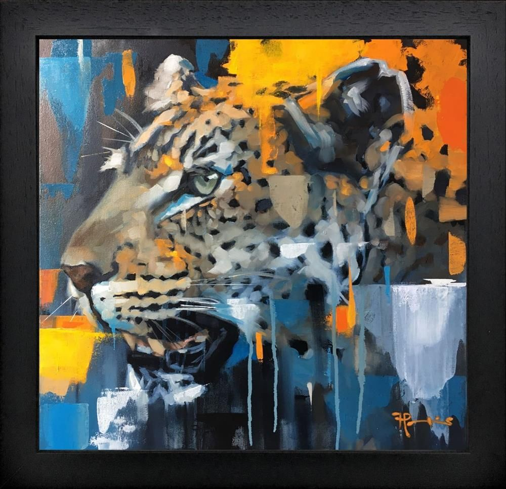 Frank Pretorius - 'Panthera Pardus' - Framed Original Art