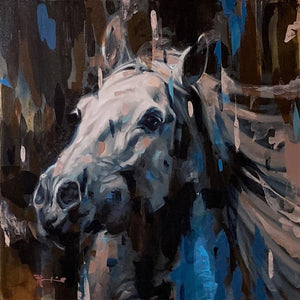Frank Pretorius - 'The Canter' - Framed Original Art
