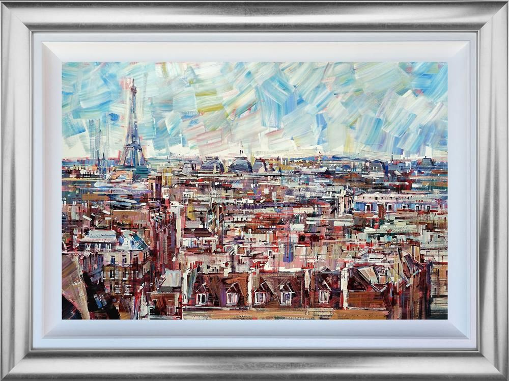 Colin Brown - ' Paris Chimlies ' - Framed Original Art