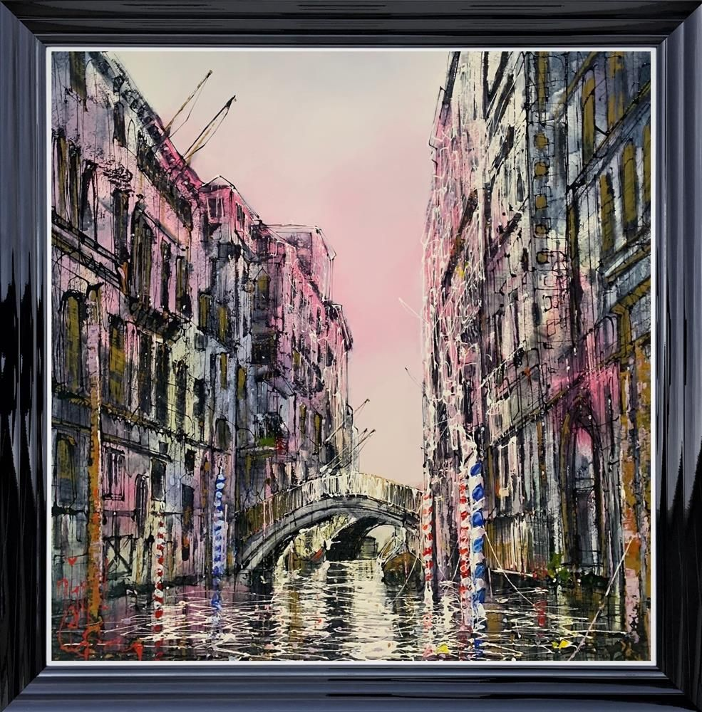 "Nigel Cooke - ""Venice Love ""  - Framed Original Artwork"