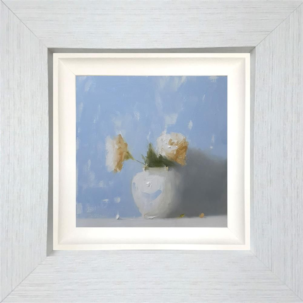 Neil Carroll - 'Roses In Blue' - Framed Original Painting