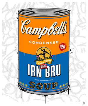 JJ Adams - 'Campbells IRN-BRU Soup' - Limited Edition Print & Original