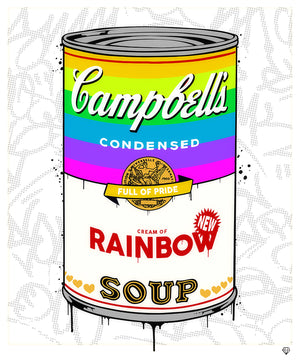 JJ Adams - 'Campbells Rainbow Soup' - Limited Edition Print & Original