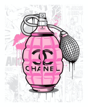 JJ Adams - 'Designer Grenades' (Chanel Perfume) - Limited Edition Print & Original
