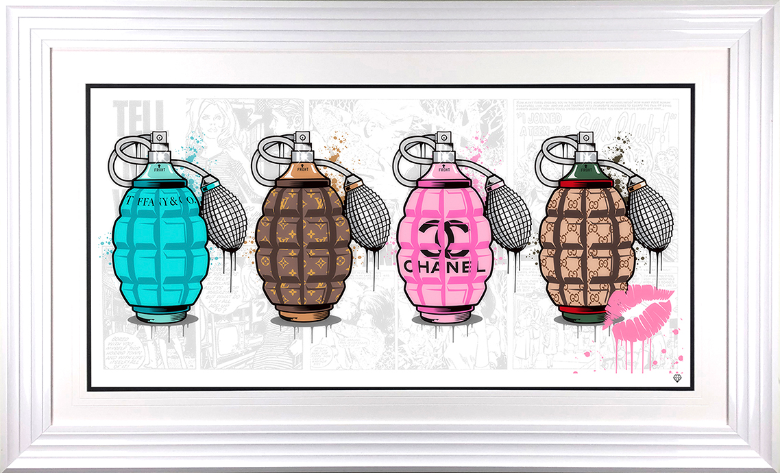 JJ Adams - 'Designer Grenades' (The Full Set) - Limited Edition Print & Original