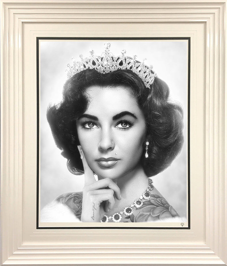 JJ Adams - 'Elizabeth Taylor' (Black & White) - Limited Edition Print