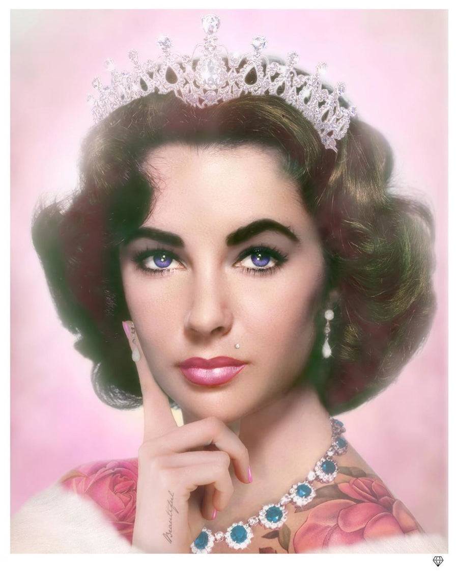 JJ Adams - Elizabeth Taylor (Colour) - Limited Edition Print & Original