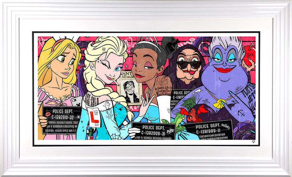 JJ Adams - 'Girls Night Out' (Dirty Disney V) - Limited Edition Print & Original