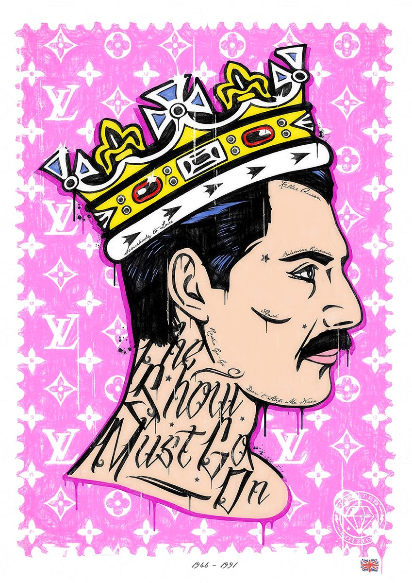 JJ Adams - The Show Must Go On (Freddie Mercury) - Limited Edition Print