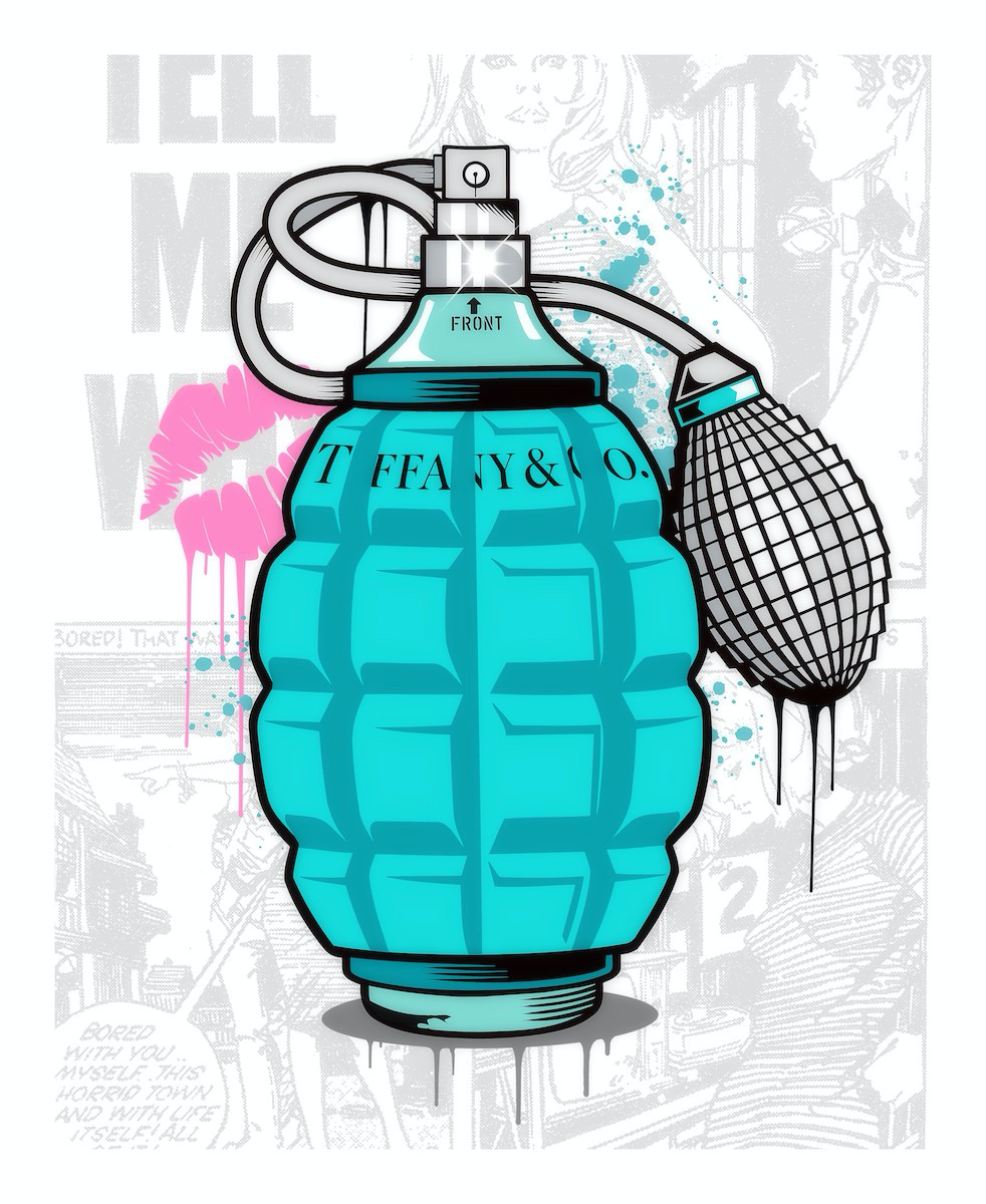 JJ Adams - 'Designer Grenades' (Tiffany & Co. Perfume) - Limited Edition Print & Original