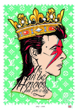 JJ Adams - We Can Be Heroes (David Bowie) - Limited Edition Print & Original