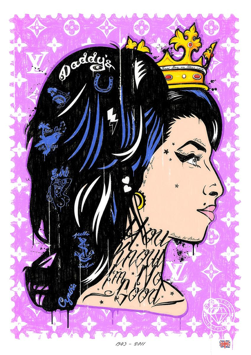 JJ Adams - 'You Know I'm No Good' (Amy Winehouse) - Original & Limited Edition Print