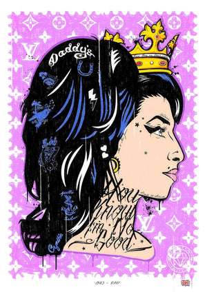 JJ Adams - You Know I'm No Good (Amy Winehouse) - Limited Edition Print