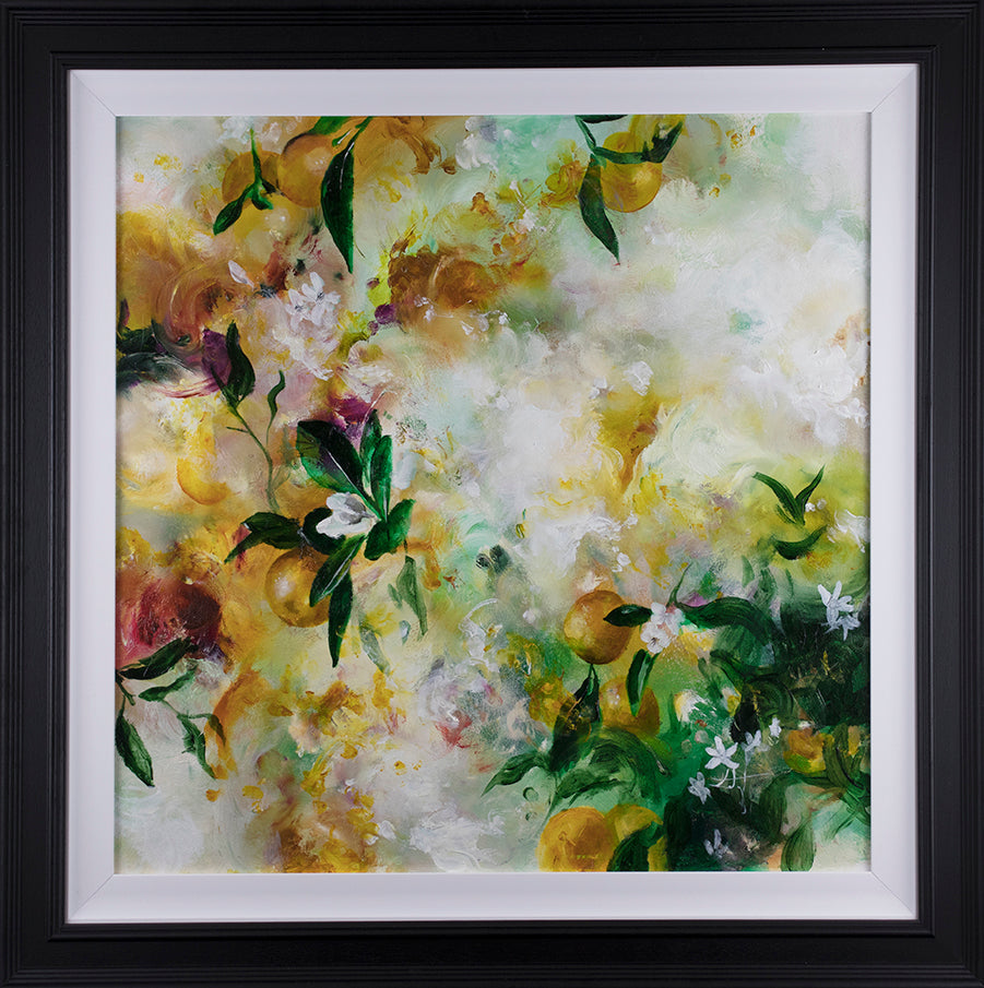 Katy Jade Dobson - 'Citrus' (Botanical Collection) - Framed Original Oil Painting