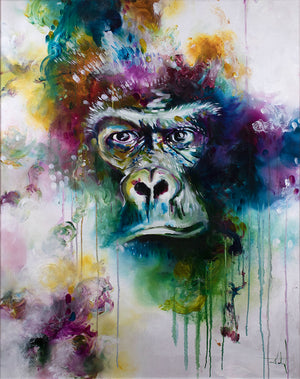 Katy Jade Dobson - 'Gorilla' (2019) - Original Oil Painting