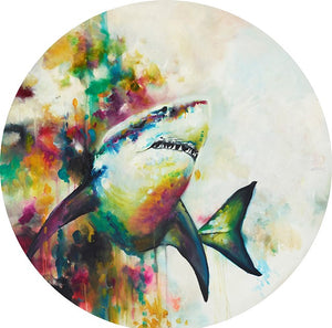 """Jaws"" (Great White Shark) by Katy Jade Dobson (limited edition print)"