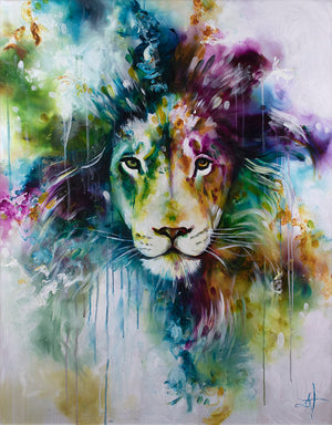 Katy Jade Dobson - Lion (2019) - Framed Original & Limited Edition Print