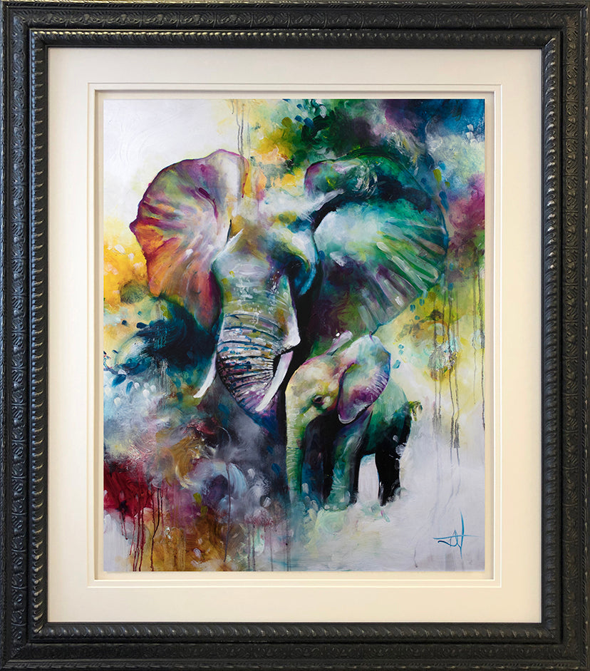 Katy Jade Dobson - Mother & Baby (2019) - Framed Original & Limited Edition Print