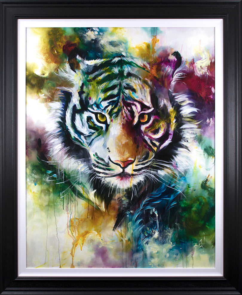 Katy Jade Dobson - Presence / Lion (2019) - Framed Original & Limited Edition Print
