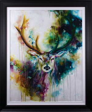 Katy Jade Dobson - Stag (2019) - Framed Original & Limited Edition Print