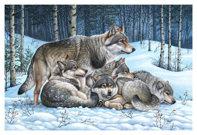 Richard Orr - 'Wolf Pack' - Original Art