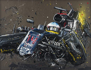 """Alonso Crash"" by Paul Oz (limited edition)"