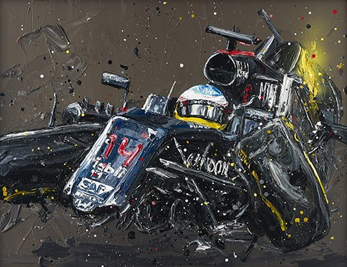 Paul Oz - 'Alonso Crash' - Limited Edition Print & Canvas