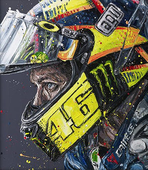 """Rossi Helmet 17"" by Paul Oz (limited edition)"