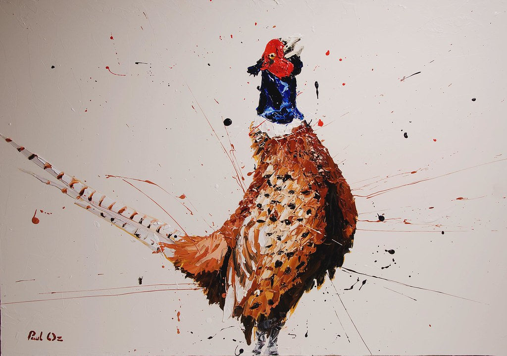 Paul Oz - 'Alan The Pheasant' - Limited Edition Print & Canvas