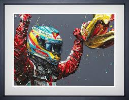 Paul Oz - 'Alonso Spain 2013' - Limited Edition Art