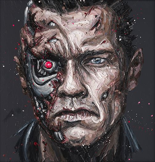 """Arnie"" (Arnold Schwarzenegger) by Paul Oz (limited edition)"