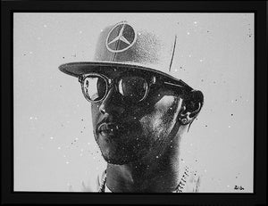 """Bling"" (Lewis Hamilton) by Paul Oz (Limited Edition Canvas)"