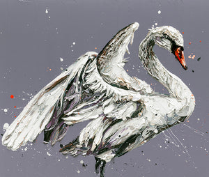 """John the Swan"" by Paul Oz (limited edition print)"