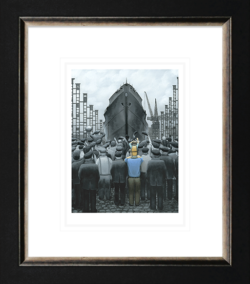 Leigh Lambert - 'The Ship that Dad Built ' -Paper Limited Edition Art