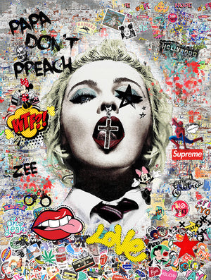 Zee - 'Papa Don't Preach' (Madonna) - Limited Edition Art
