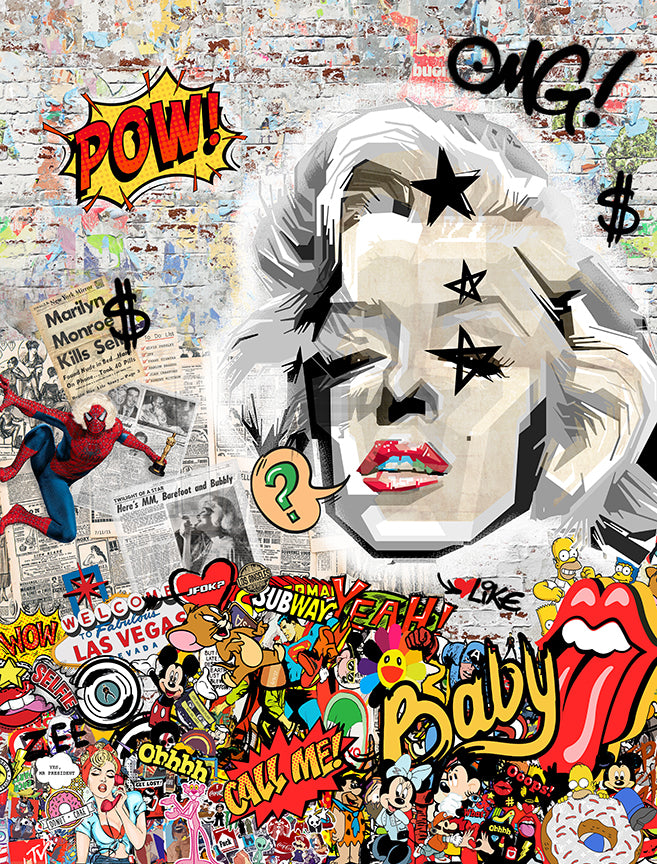 Zee - 'Blonde Bombshell' (Marilyn Monroe) - Limited Edition Art