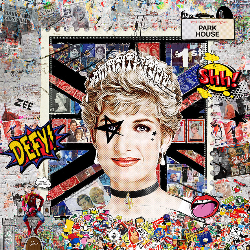 Zee - 'Secret Lives' (Princess Diana) - Limited Edition Art & Original