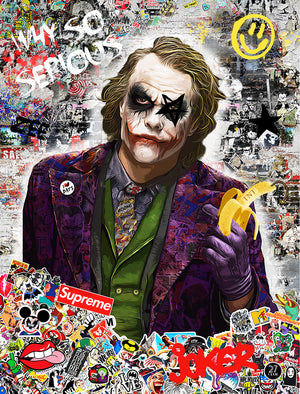 Zee - 'Why So Serious?' (Heath Ledger's Joker) - Limited Edition Art