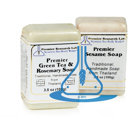 Green Tea/Rosemary Bar Soap, Premier (3.5 oz) by Premier Research Labs