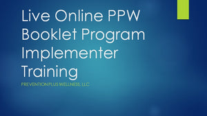 Online Booklet & IGI Program Implementer Training