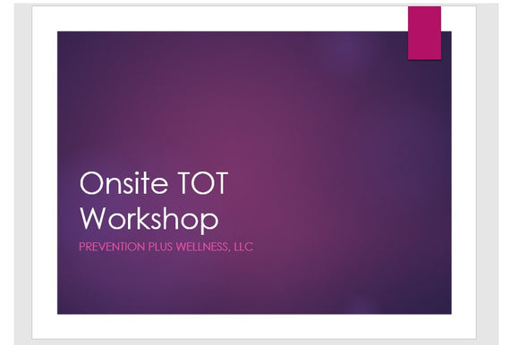 Onsite Certified Training of Trainers Workshop