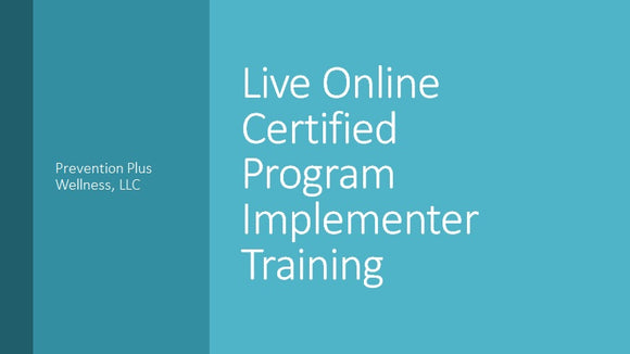 Online Certified Program Implementer Training