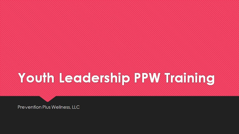 Youth Leadership PPW Program Implementer Training