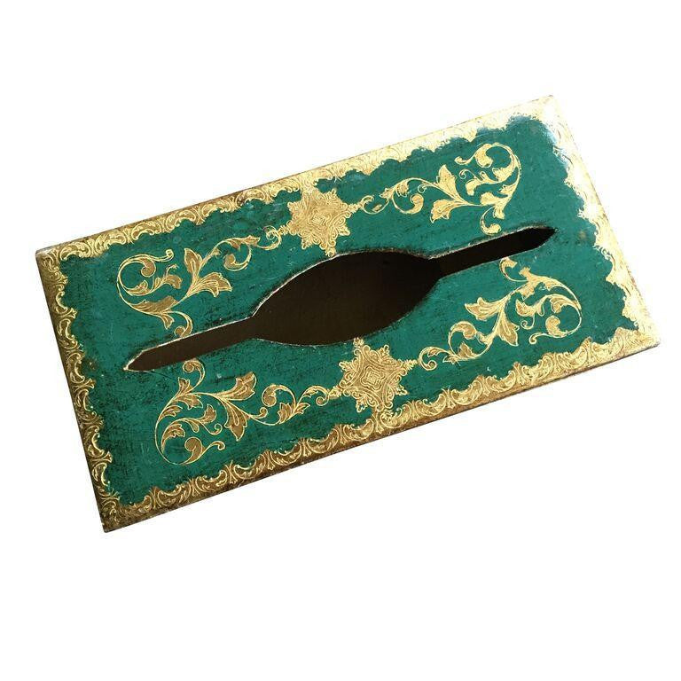 Emerald Florentine Tissue Box